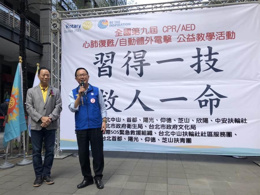 國民黨台北市長候選人丁守中。(楊佳穎攝)