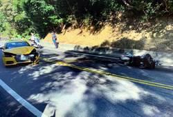 北宜車禍超跑重機相撞 1人受傷送醫