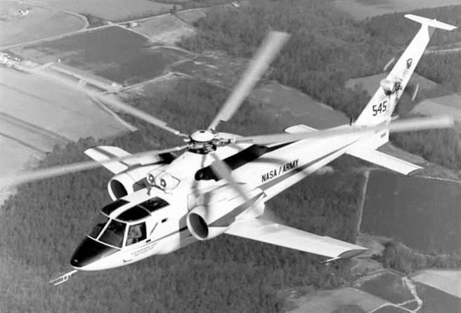 塞考斯基在1976年研發過S-72的高速直升機。(圖/網路)