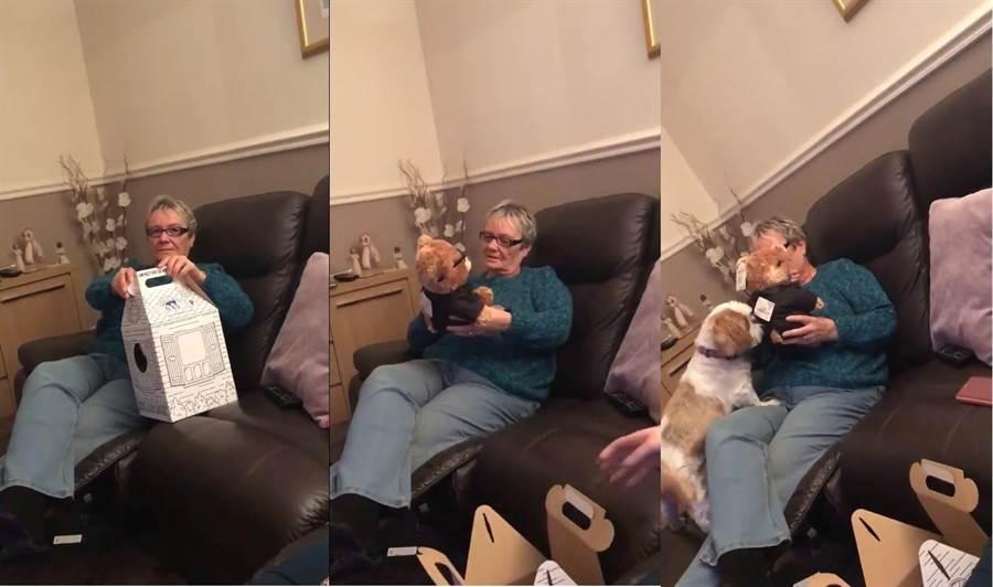 暖心孫女送奶奶泰迪熊 內含驚喜讓網友看了鼻酸(圖/翻攝自推特)
