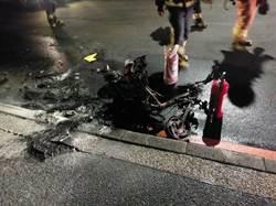 重型機車被燒成廢鐵剩支架  嫌犯辯稱「剛好在點煙」