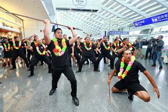 台中花博開幕晚會紐西蘭毛利舞團抵台 林佳龍接機迎嘉賓