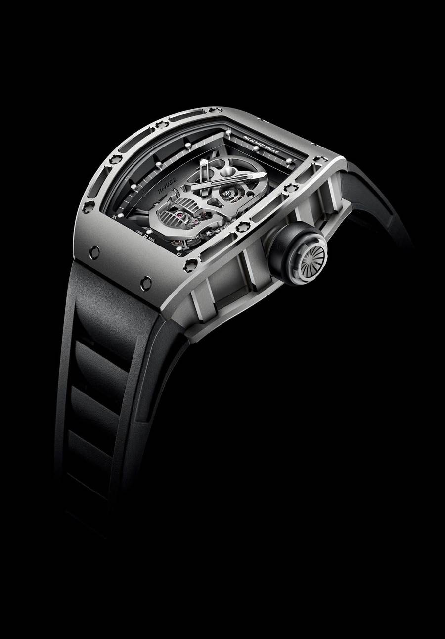 Richard Mille以這只RM052骷髏頭陀飛輪席捲鐘表界,帶動骷髏頭腕表的流行風潮。(Richard Mille提供)