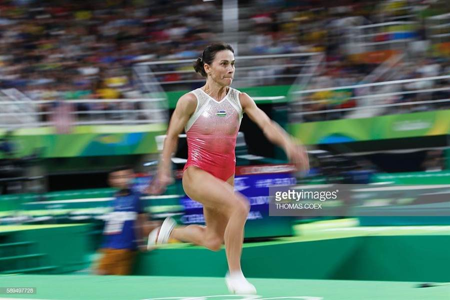 43歲薇金娜兩年後將第8次挑戰奧運,創下世界體操史新紀錄。(美聯社)