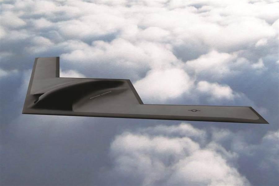 美國空軍最新一代的遠程隱形戰略轟炸機B-21示意圖。(圖/Northrop Grumman)