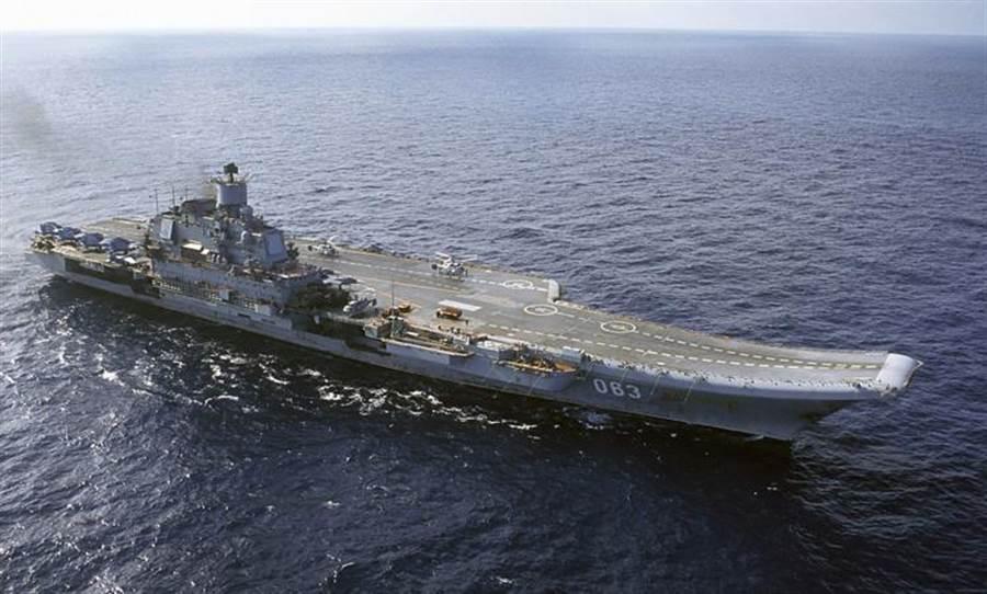 俄羅斯的航空母艦「庫茲涅佐夫上將號」(美聯社)
