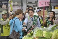黃偉哲市場拜票 催生觀旅新經濟