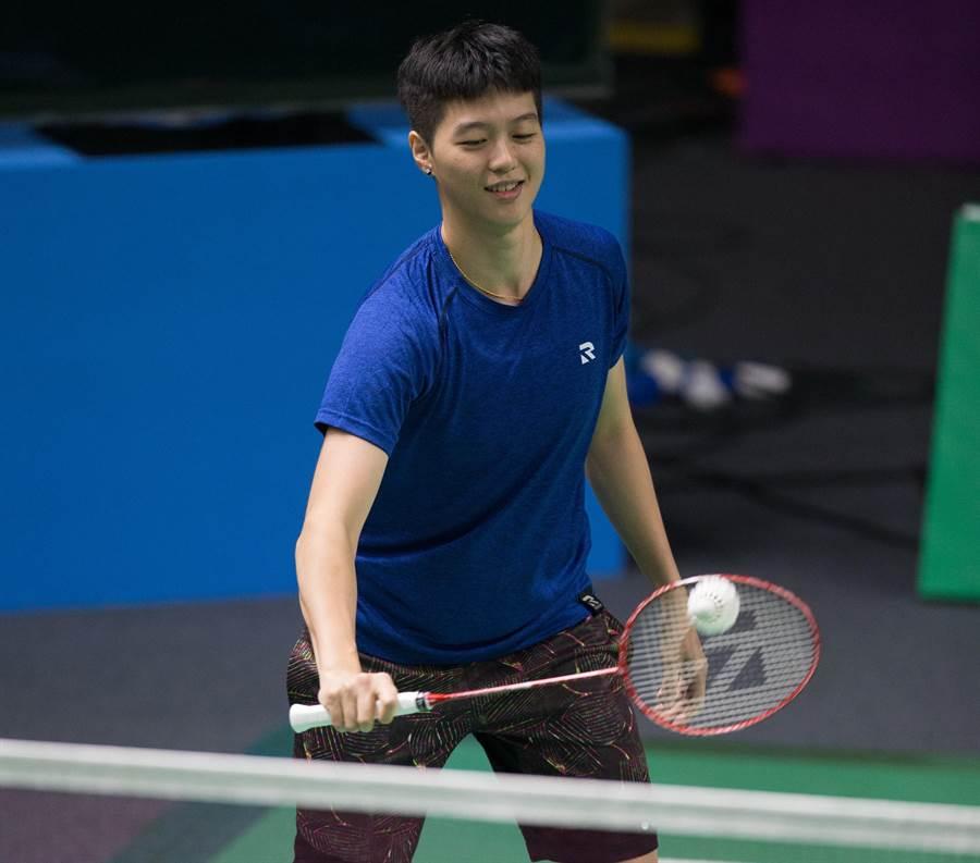 台灣羽球女單好手白馭珀在世錦賽第一輪直落二過關。(資料照/杜怡諳攝)