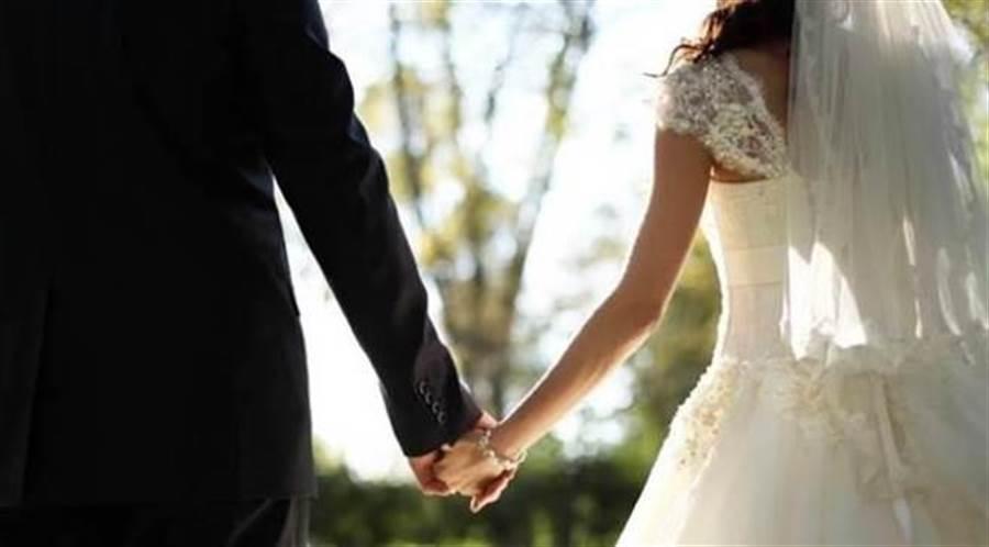 印度一對新人不甩禁令堅辦200人婚禮,結果新郎家族16人染疫爸爸身亡。 (示意圖/達志影像/shutterstock提供)