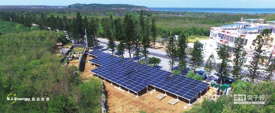 鑫盈能源澎湖首座地面型太陽光電系統。圖/業者提供