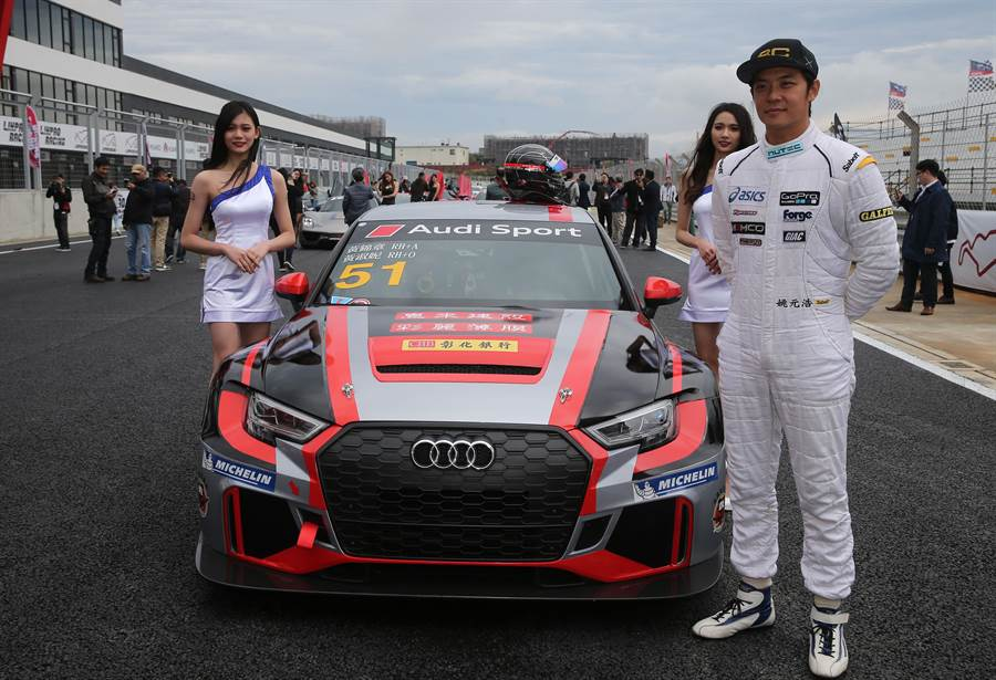 姚元浩也出席麗寶國際賽車場亮相記者會。(黃國峰攝)