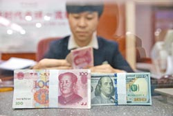 美元回貶助攻 人幣升破6.93
