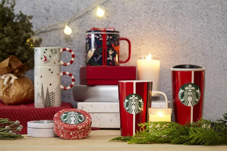 星巴克耶誕周邊商品,每一年都是咖啡迷最期待的驚喜。圖/業者提供