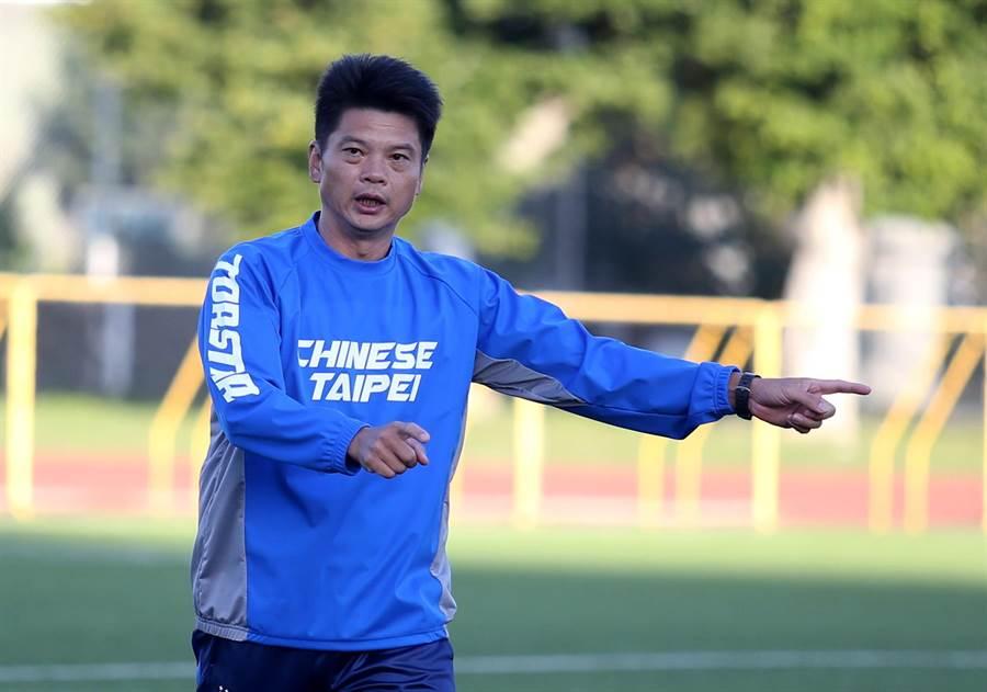 總教練顏士凱帶領中華女足出征奧運資格賽。(李弘斌攝)