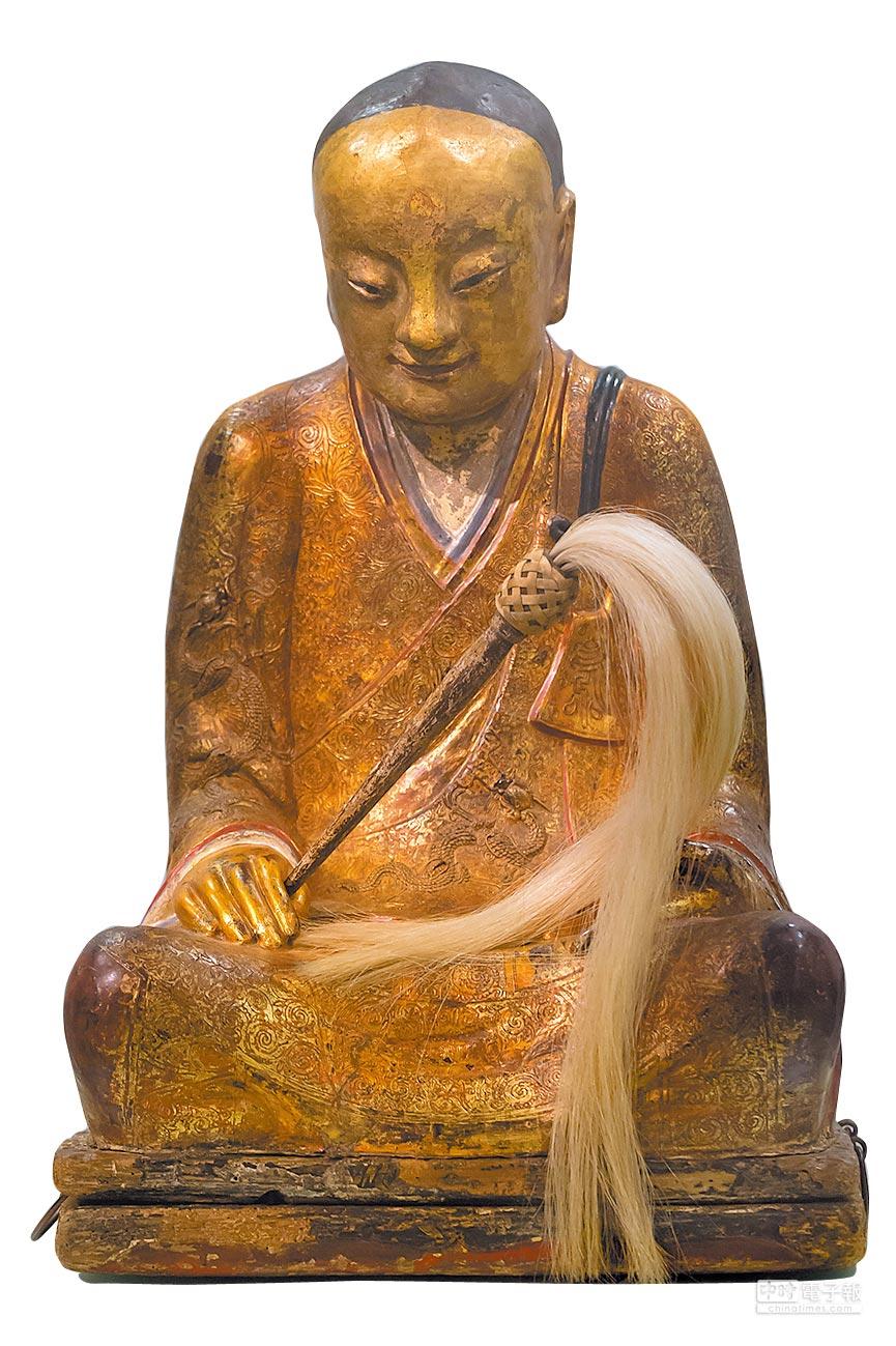 中國僧人肉身寶像。(新華社資料照片)