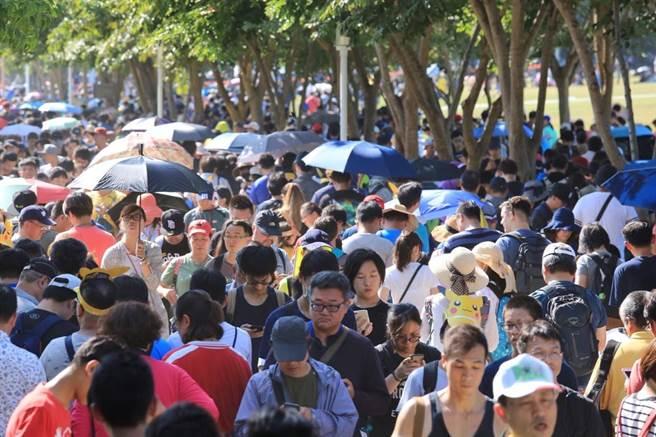 寶可夢熱潮發威,11月1日至5日的抓寶活動為台南掀起一波強而有力的觀光效益。(台南市觀光旅遊局提供)