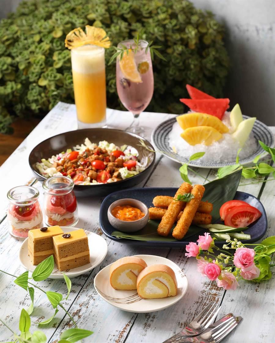 Asia 49亞洲料理及酒廊「雙人下午茶組」以多種類餐點滿足消費者。(圖片提供/ Mega 50餐飲及宴會)