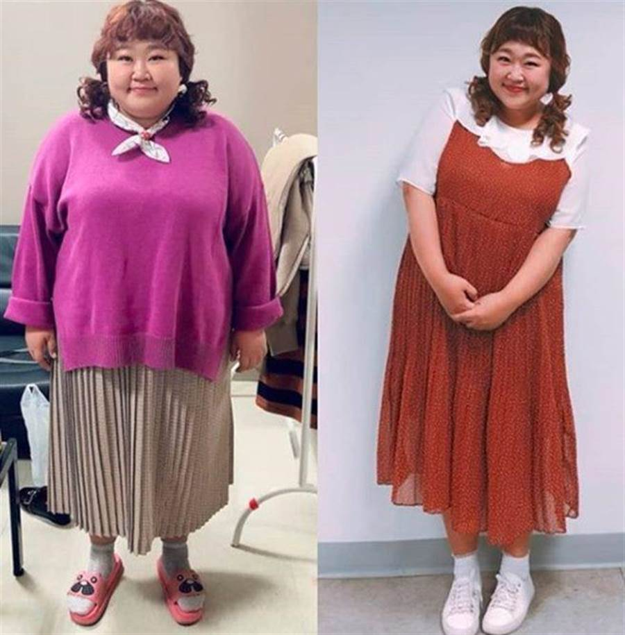韓國女諧星洪允花成功瘦身30公斤,勵志嫁交往8年初戀。(圖/洪允花IG)