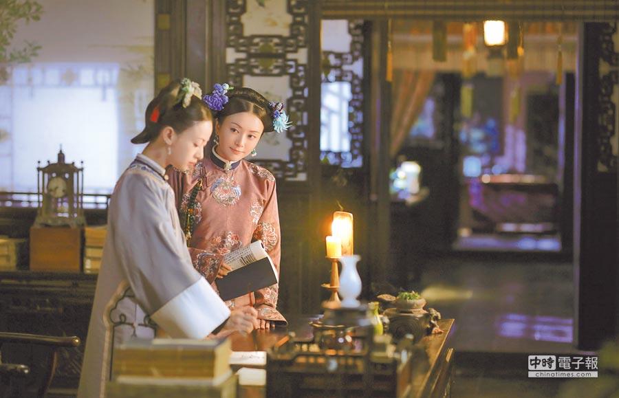 秦嵐飾演的富察皇后(右)和魏瓔珞情深如姊妹。