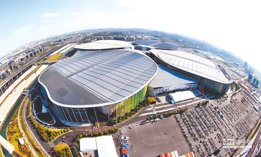 大陸首屆國際進口博覽會主場館──國家會展中心。(新華社資料照片)