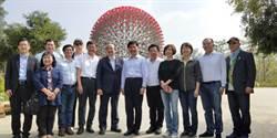 台中》立院民進黨團訪花博 相約林佳龍就職日再重遊