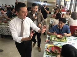 小智園區列車造訪智邦科技午餐會  員工比6手式熱烈歡迎