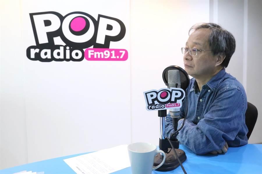 台北市長柯文哲競選總幹事小野今天中午接受廣播節目專訪。(節目製作單位提供)
