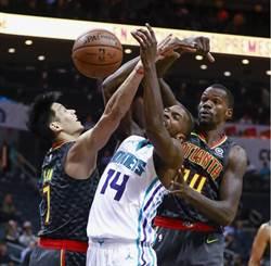 NBA》林書豪19分白做工 老鷹客場遭黃蜂逆襲
