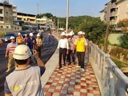林智堅視察三姓橋路工程進度  預計明年1底完工通車