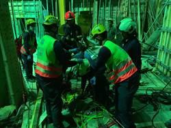 中市南屯新建工地工人從10米處墜落送醫急救