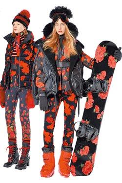 時尚滑雪裝 瘋印花條紋