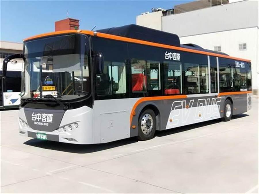 凱勝綠能完成台中客運8輛、豐原客運4輛電動大巴的交車,這12輛電動巴士投入台中花卉博覽會交通運輸,成為綠色運輸的交通典範。(圖/凱勝綠能提供)