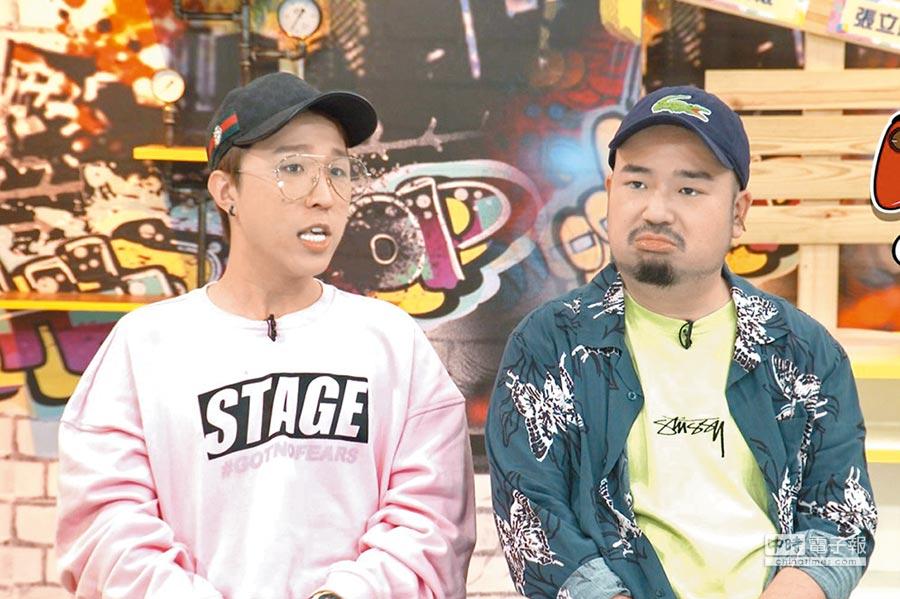 阿達(右)與大根在節目中互虧沒在客氣。