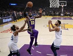 NBA》歡迎拳王加盟 詹皇準大三元領湖人險勝灰狼