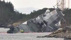 挪威神盾巡防艦與油輪相撞 浸水嚴重可能沉沒