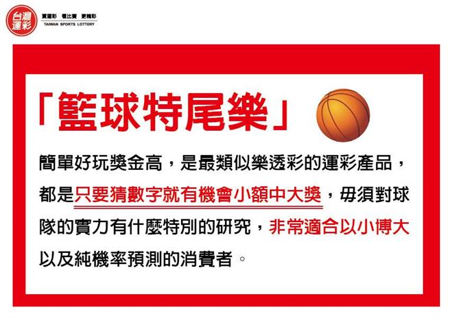 籃球特尾樂說明。(台灣運彩提供)