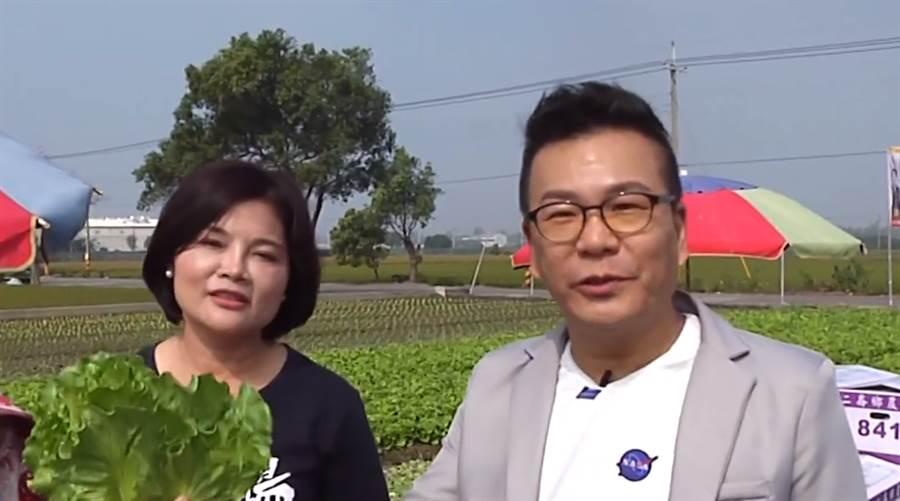 張麗善與沈玉琳共同拍攝網路節目,盼提高網路聲量。