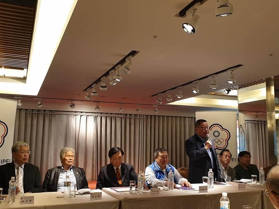 中華奧會開東奧正名公投討論會議,射擊名將林怡君呼籲運動員站出來,保護自己的權益。(摘自林怡君臉書)
