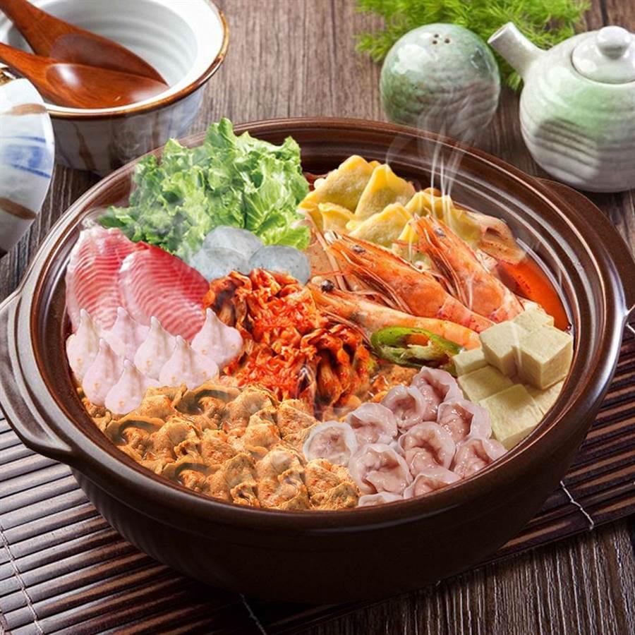 西北食品「小資泡菜海陸相撲鍋」。圖/業者提供