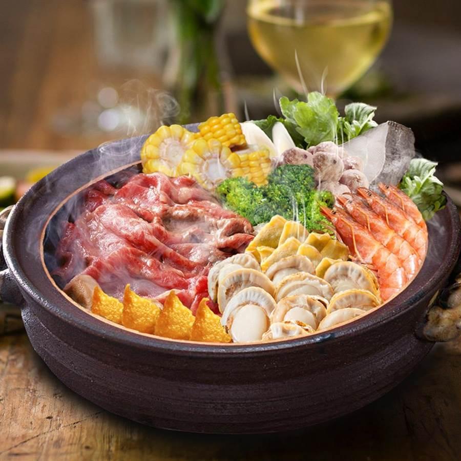 西北食品「極黑和牛海陸相撲鍋」。圖/業者提供