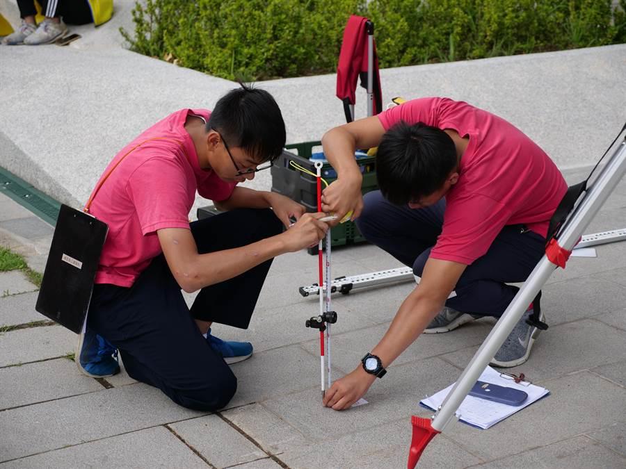 健行科大舉辦全國空間測繪競賽。(校方提供)