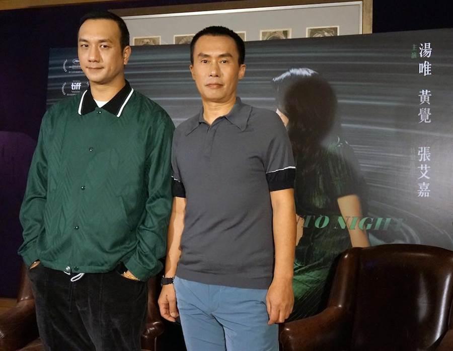 《地球最後的夜晚》演員黃覺(左)與陳永忠。(甲上提供)