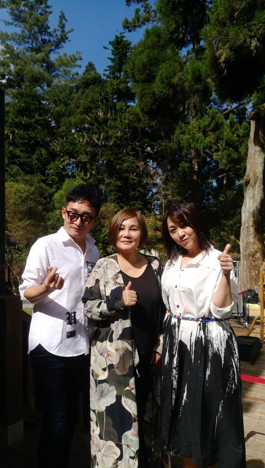 亦帆(右起)、官靈芝、徐哲緯今天出席「2018溪頭竹文化節暨森林音樂會」記者會。(新視紀整合行銷提供)