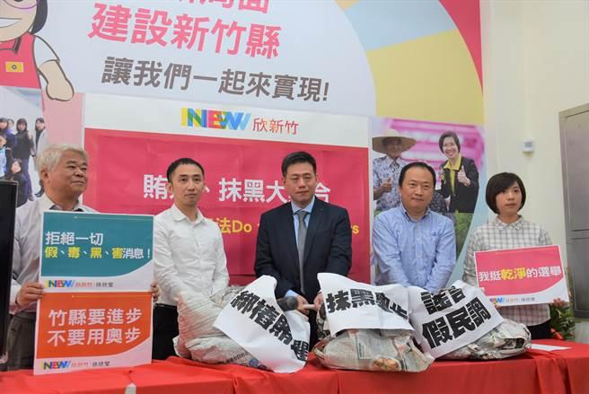 徐欣莹竞选团队筹组律师团,打击抹黑文宣、假民调等。(庄旻静摄)
