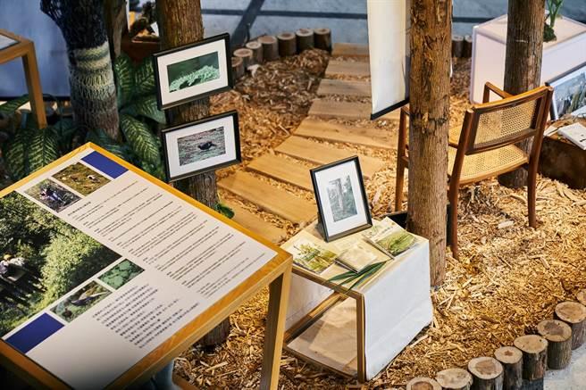 《臺大創校九十週年系列活動》,為森林場景帶進室內空間,欣賞不同於校總區的另一種校園景觀。(主辦單位提供)