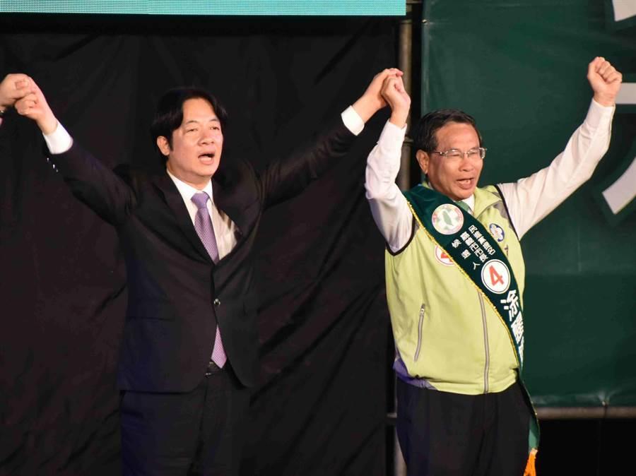 行政院長賴清德則強調嘉義市長選舉不僅是人才之爭,也是攸關台灣價值的選舉。(呂妍庭攝)