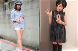 女星懷孕8個月喝喜酒穿這樣!少女裝+鉛筆腿嚇壞網友