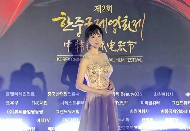 張如君取經韓國電影盛會,希望擴大城市交流的影響力。(全球城市選拔協會提供)