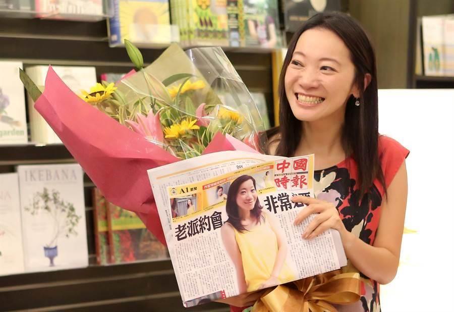 圖為作家李維菁2012年發表《老派約會之必要》新書時的身影。(資料照片 鄧博仁攝)