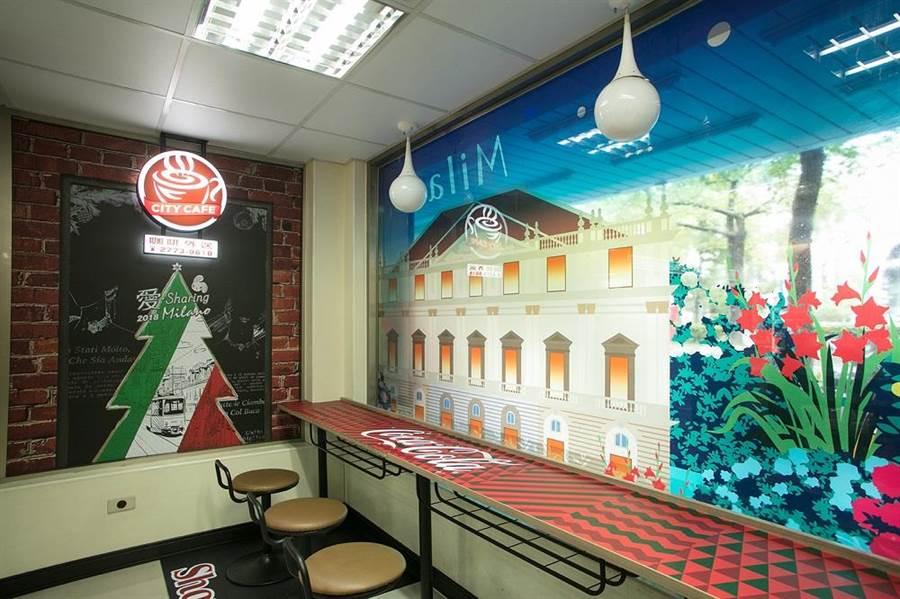 靜安門市的可口可樂主題。(7-11提供)
